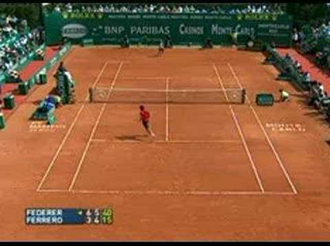 Federer vs Ferrero, Monte Carlo 2007