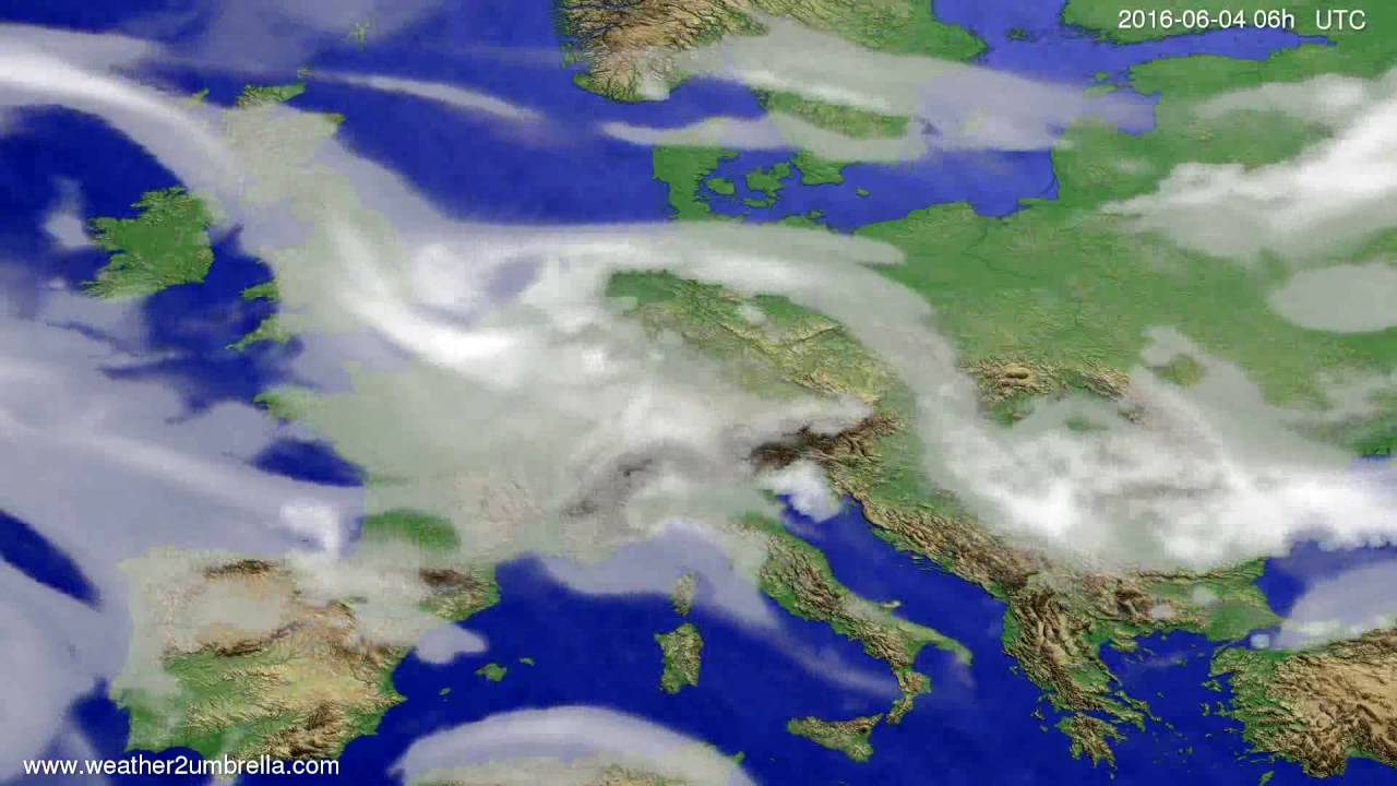 Cloud forecast Europe 2016-06-01
