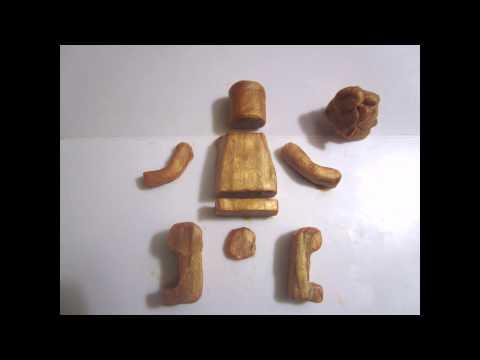 Лего-человечек из пластилина. Лепим Мистера Голда.