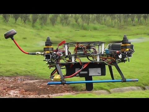 Black Racer Home Built Quadcopter 2nd FPV with Mobius HD (видео)