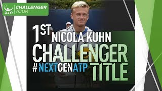 Watch interview and the point of the tournament as budding NextGenATP star Nicola Kuhn, aged 17, claimed his maiden Challenger title in Braunschweig, Germany.