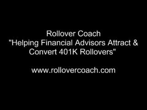 401K Rollover Strategies For Financial Advisors