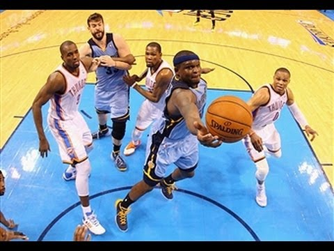 Thunder - Memphis Grizzlies Highlights: http://www.nba.com/video/grizzlies Subscribe to NBA LEAGUE PASS http://www.nba.com/leaguepass Download NBA Game Time http://www...