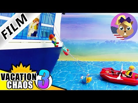 Playmobil Story | THE SHIP is sinking! Smith Family ALONE aboard | Kids Film Vacation Chaos 3