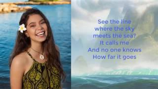 Auli'i Cravalho   How Far I'll Go Lyrics Video   Moana Lyrics Video