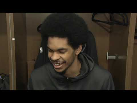 Video: Jarrett Allen on his big opening night