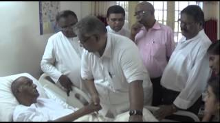 Visit of Bishop Siswa Prakash to Pas Sam Sundaram along with Pastors and police officials on 18 2 20