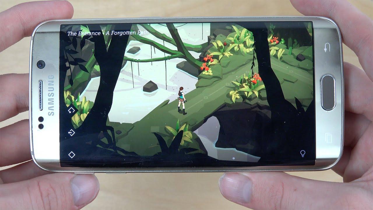 Descargar Lara Croft GO Samsung Galaxy S6 Edge Gameplay Review! (4K) para Celular  #Android