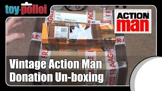 Un-boxing - Action Man Donation to Toy Polloi