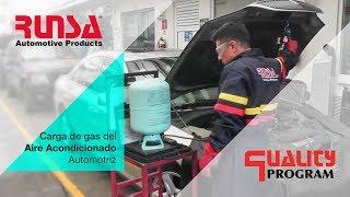 Carga de gas del Aire Acondicionado automotriz
