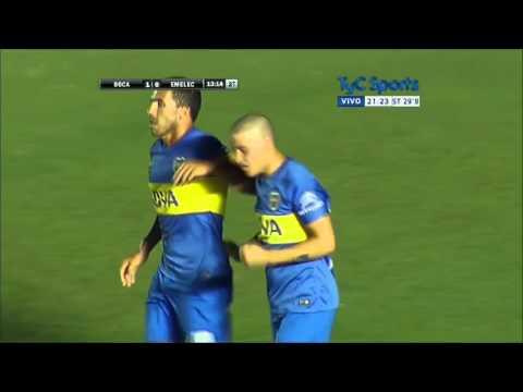 Gol de Messidoro con primer equipo Boca