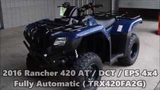 7. 2016 Rancher 420 AT / DCT / EPS Review of Specs & Features - TRX420FA2 Sale at Honda of Chattanooga