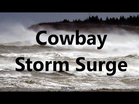 Huge Storm Surge Swells at Cowbay Nova Scotia