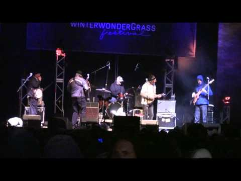 Sam Bush Band - full set WinterWonderGrass 2-21-15 Avon, CO SBD HD tripod