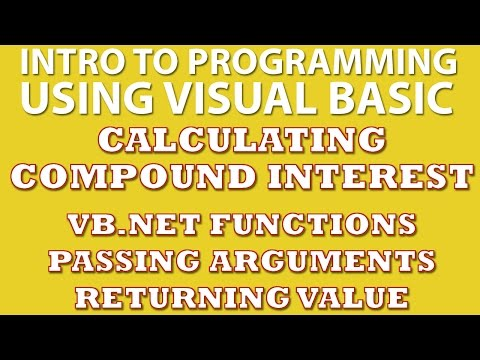 VB.net Programming Challenge: Calculating Compound Interest (VB.net Functions)