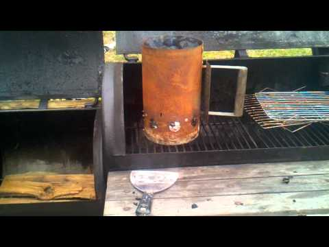 DIY beef jerky smoked in the Brinkman Smoker part 1 prepping the grill