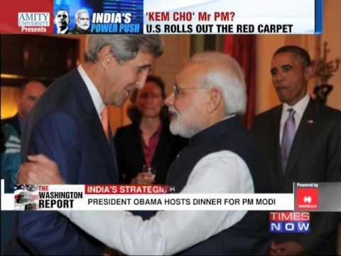 US President Barack Obama welcomes Narendra Modi to White House 30 September 2014 08 PM