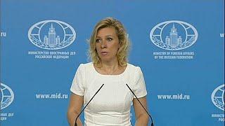 """Rusya Dışişleri Bakanlığı Sözcüsü Maria Zaharova, Amerika Birleşik Devletleri'nin, geçen aralık ayında ülkeden sınır dışı edilen 35 Rus diplomatın yerine görevlendirilen diplomatlara vize vermediğini söyledi.Zaharova, Moskova'da düzenlenen basın toplantısında, """"ABD, yeni görevlendirilen Rus diplomatlara da vize vermeyi reddediyor"""" ifadesini kullandı.Washington yönetiminin Rus diplomatların sınır dışı edilmesine yönelik kararı geri almadığını da belirten Zaharova, Moskova'nın ne gibi adımlar …İLGILI HABERLER: http://tr.euronews.com/2017/07/14/abd-rus-diplomatlara-vize-vermeyi-reddediyoreuronews: Avrupa'nın en çok izlenen haber kanalı.Üye ol! http://www.youtube.com/subscription_center?add_user=euronewstreuronews şimdi 13 ayrı dilde: https://www.youtube.com/user/euronewsnetwork/channelsTürkçe: Web sayfası: http://tr.euronews.com/Facebook: https://www.facebook.com/euronews.trTwitter: http://twitter.com/euronews_tr"""