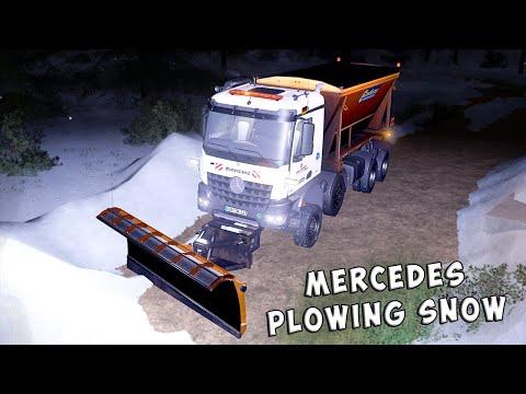 Mercedes Arocs winter service + snowfall v2.0