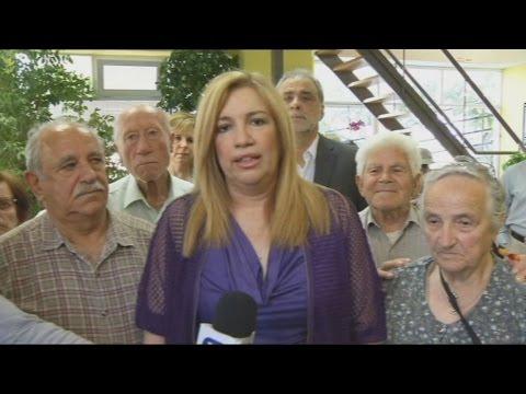 Στο ΚΑΠΗ Αγ. Μαρίνας στην Ηλιούπολη η πρόεδρος του ΠΑΣΟΚ
