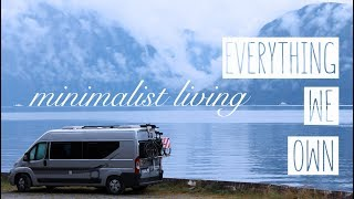 How we organized our VAN HOUSE | Full time van living