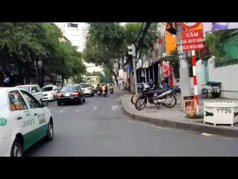 From Hai Ba Trung street to Notre Dame Cathedral Ho Chi Minh Saigon