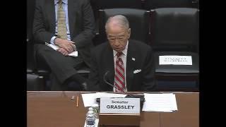 Nonton Senator Grassley Testimony at House Oversight hearing: