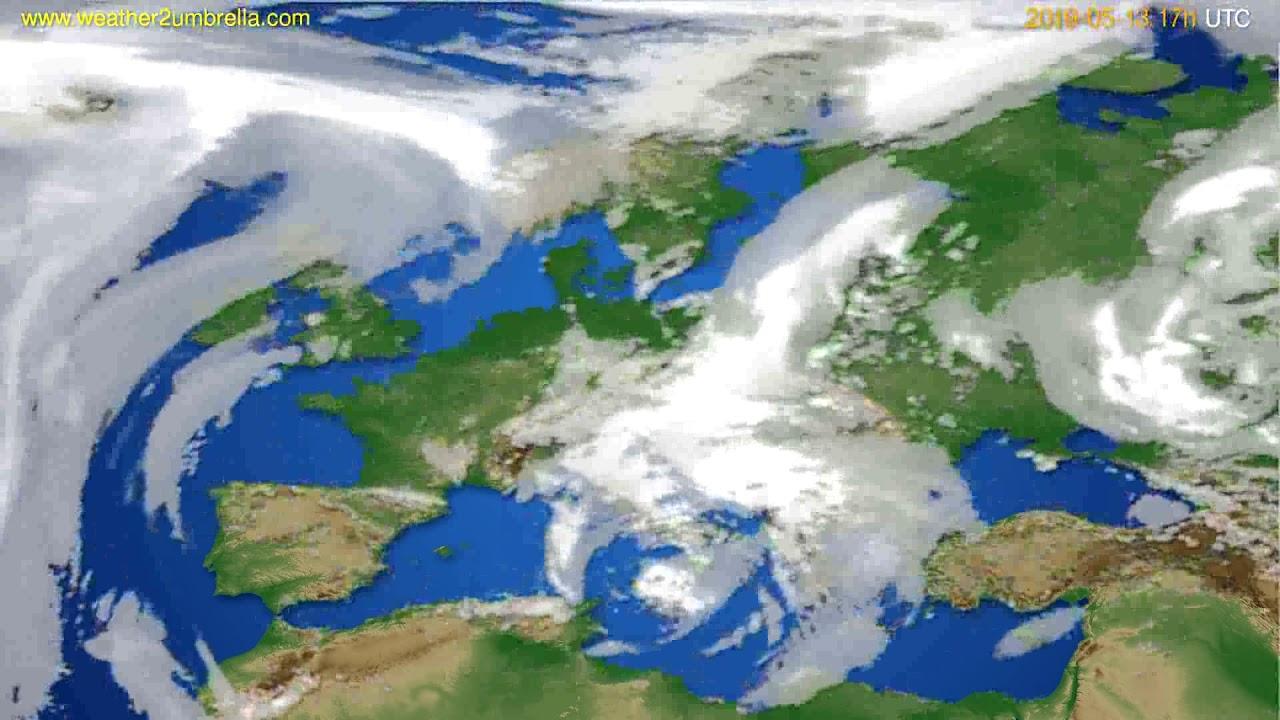 Cloud forecast Europe // modelrun: 00h UTC 2019-05-12