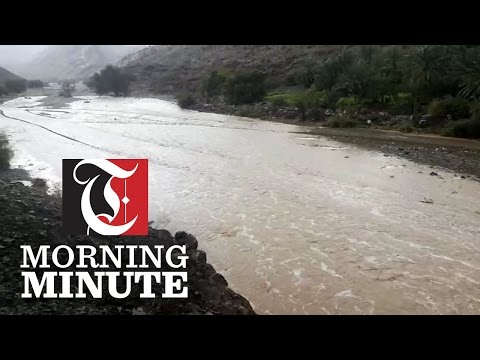 According to a weather enthusiast, heavy rain fell in Rustaq and surrounding areas leading wadis to overflow over the weekend.