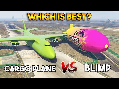 GTA 5 ONLINE : CARGO PLANE VS BLIMP (WHICH IS BEST?)
