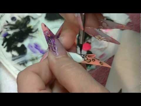 nail art - acrilico maculato