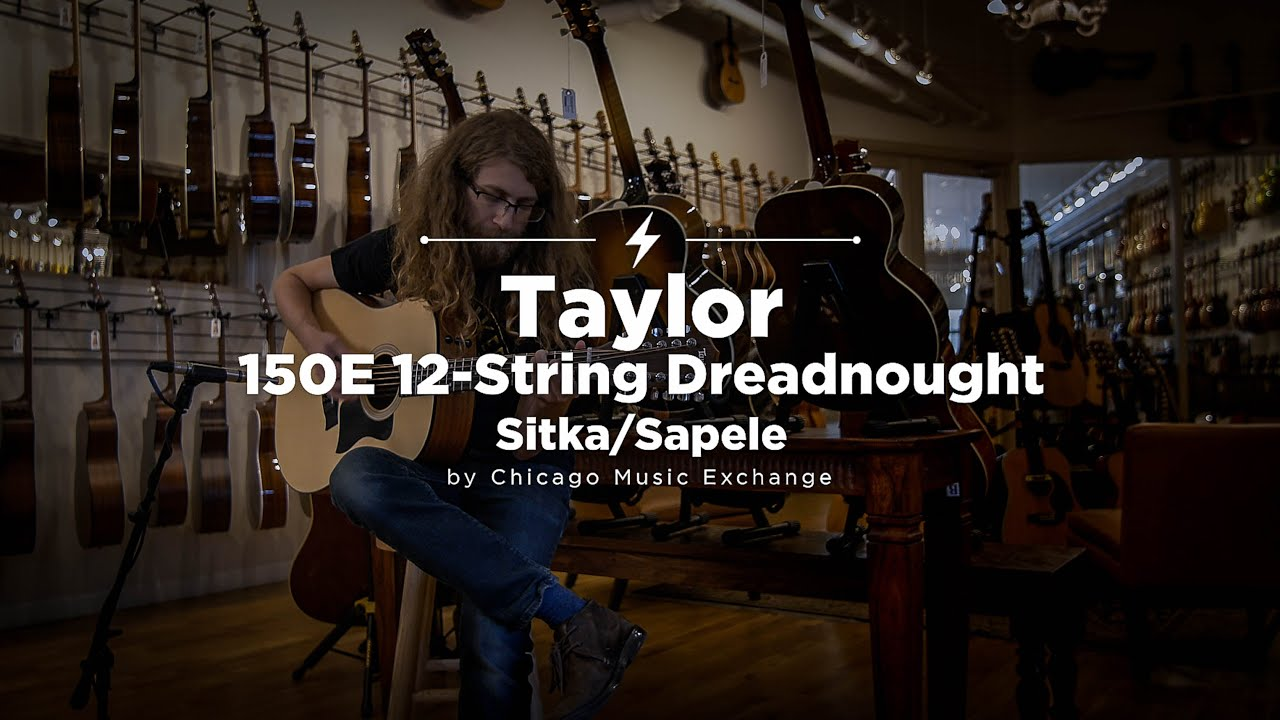 Quick Riff: Taylor 150E 12-String Dreadnought Sitka/Sapele Acoustic-Electric Guitar
