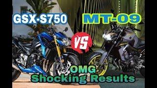 8. Suzuki GSX-S750 vs Yamaha MT-09 2018   Comparison   Shocking Results  