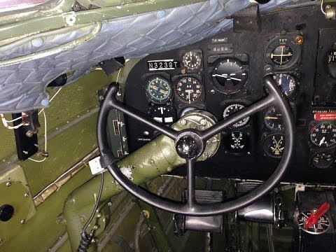 A look at the cockpit of a Douglas...