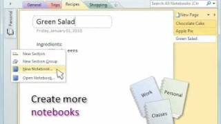 How to organize stuff in Microsoft OneNote 2010