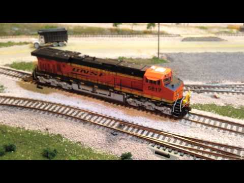 ES44AC - Hey guys, Ryan, from bnsfrailfans, was up at the layout for a few days, so we thought that it'd be a good time to do a few videos. Today, we take a look at o...