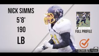 Nick Simms (LB/FB) Class 2018 - \\\'15 Highlight Video