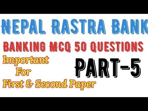(Banking Important Question // नेपाल राष्ट्र बैंक बैंकिङ प्रथम पत्र // बैंक तथा वित्तिय संस्था - Duration: 15 minutes.)
