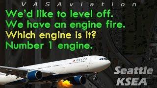 Video [REAL ATC] Delta A330 LEFT ENGINE FIRE departing Seattle KSEA! MP3, 3GP, MP4, WEBM, AVI, FLV Agustus 2019