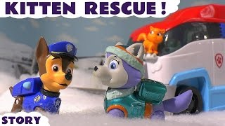 Video Paw Patrol Rescue Cat in Snow with Paw Patroller Everest Skye Chase Toys Family Fun Story TT4U MP3, 3GP, MP4, WEBM, AVI, FLV Mei 2017