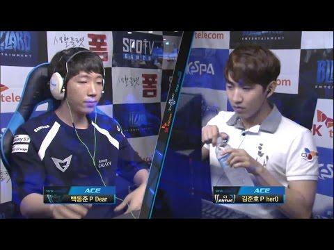 [SPL2016] Dear(Samsung) vs herO(CJ) Set5 -EsportsTV, Starcraft 2 (видео)
