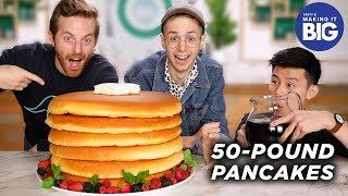 I Made Giant 50-Pound Pancakes For The Try Guys • Tasty by Tasty