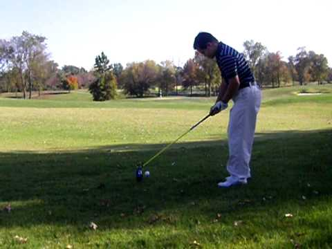 Watch video Down Syndrome: Emmanuel Bishop hits right hand driver, left handed