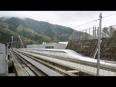 """القطار الياباني """"ماغليف"""" يحطم الرقم القياسي للسرعة بالغاً 603 كم/ ساعة"""