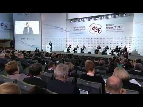 Дмитрий Медведев на пленарной дискуссии Контуры посткризисного мира 15.01.14