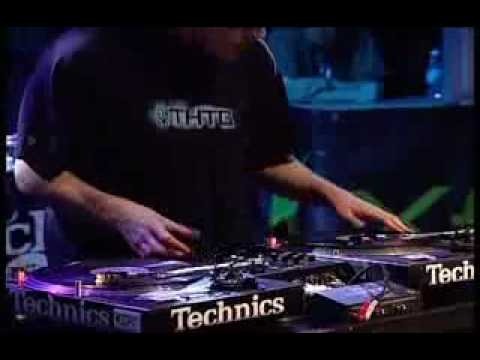 "3'30"" - DJ Blakey invents 'Manual Dubstep' at the 2004 DMC Finals by playing an upside-down turntable platter"