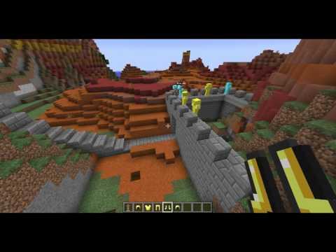 minecraft stavění hradu