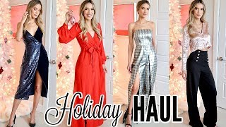 HOLIDAY PARTY TRY ON HAUL   leighannsays by Leigh Ann Says