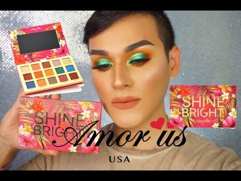 SHINE BRIGTH AMOR US / swatches  y maquillaje de ojos