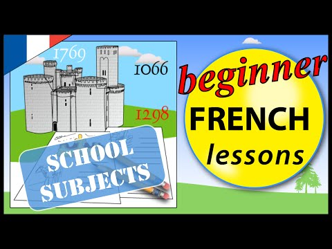 School subjects in French | Beginner French Lessons for Children